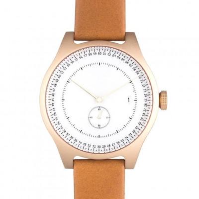 Aluminium Watch | Gold & White