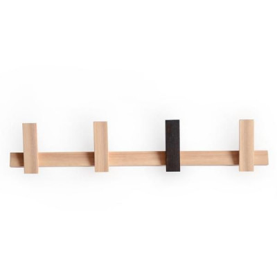 Coat Rack Horizontal | Natural with Single Scorched Hook