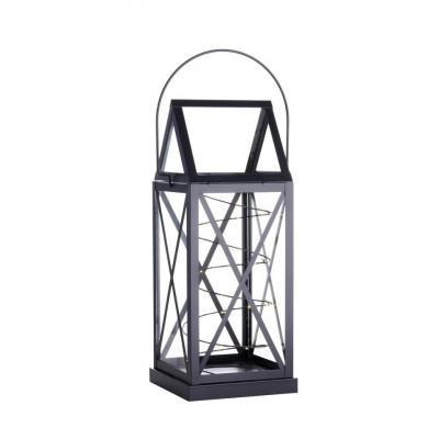 Lantern Aske 20 LED H 32 cm   Black