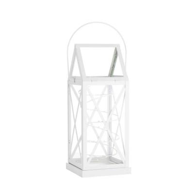 Lantern Aske 20 LED H 32 cm   White