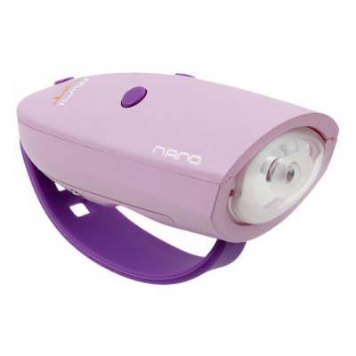 Fahrradlicht mit 15 Soundeffekten Mini Hornit Nano | Rosa/Violett