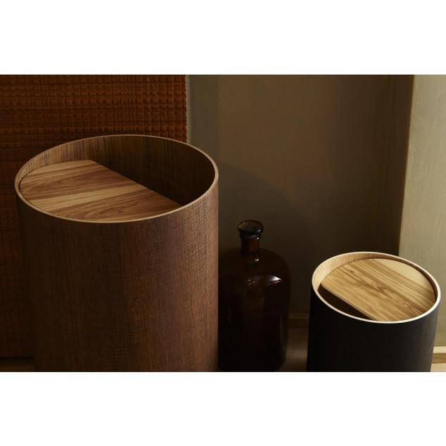 Arigatoe Riviera Waste Basket | Oak Wood
