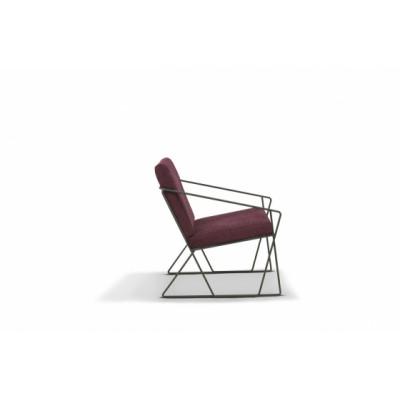Sessel AUDE | Weinrot und Schwarz