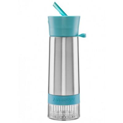 Isolierte Trinkflasche mit Infusor AquaZinger | Blau
