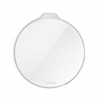Kabelloses Ladepad Aura | Glas Weiß-Silber