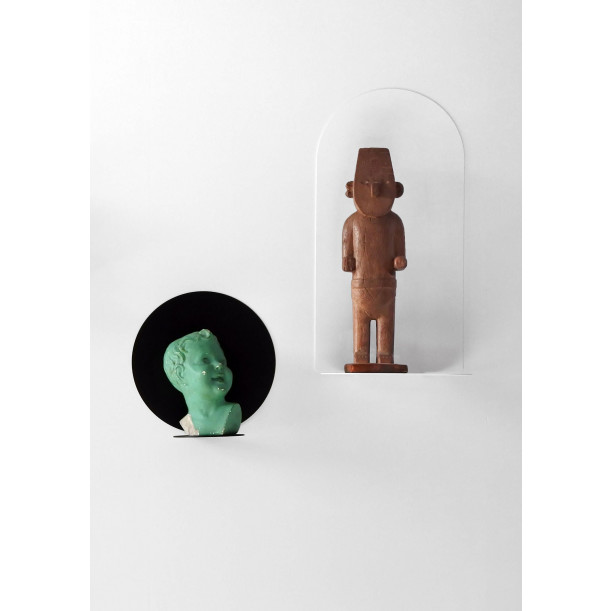 Shelf Aureole Long with Sharp Point | White