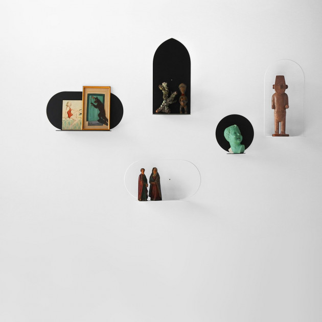 Shelf Aureole Long with Round Point | Black