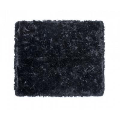 Schafwollteppich 150 cm    Schwarz