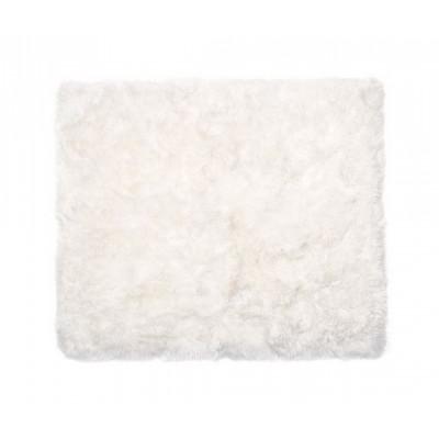 Schafwollteppich 150 cm    Weiß