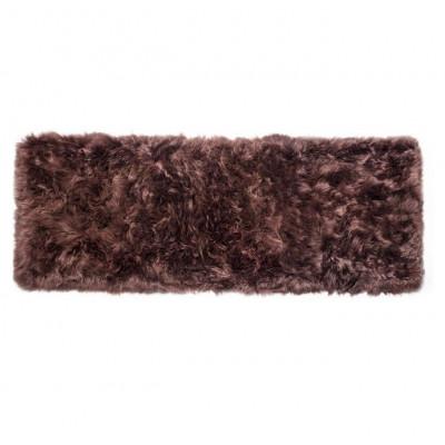 Schafsfell-Teppich lang   Braun