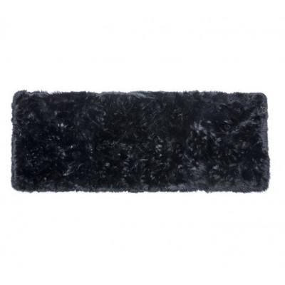 Schafsfell-Teppich lang   Schwarz