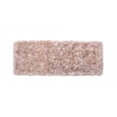 Schafsfell-Teppich lang   Hellbraun