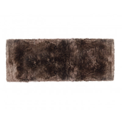 Schafsfell-Teppich lang   Taupe