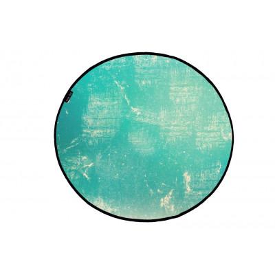 Canvas Rug Vintage   Turquoise