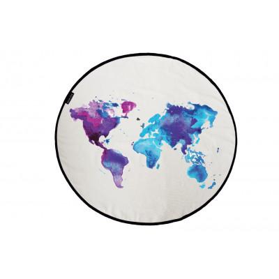 Canvas Rug Around The World