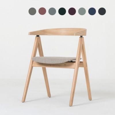 Stuhl Ava | Weißöl / Stoff