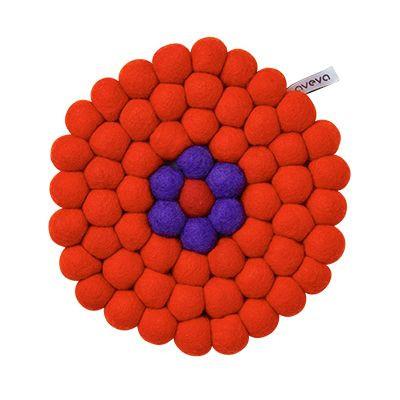 Trivet Round Orange