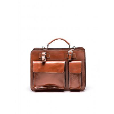 Tasche mit oberem Griff N°305 | Cognac