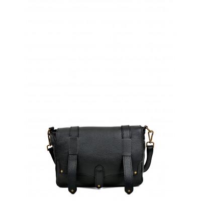 Umhängetasche aus Leder | Schwarz