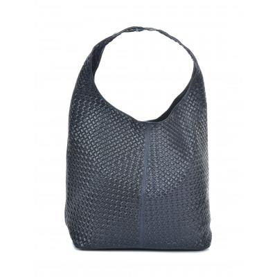 Shopper-Tasche aus Leder | Blau