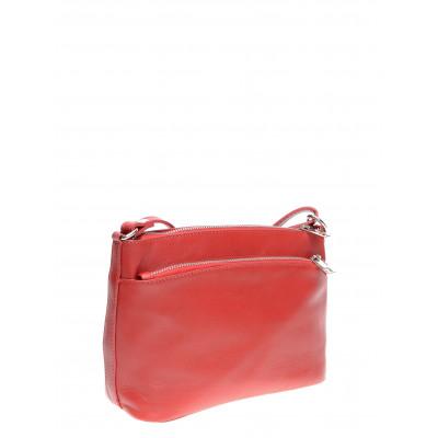 Lederhandtasche | Rot