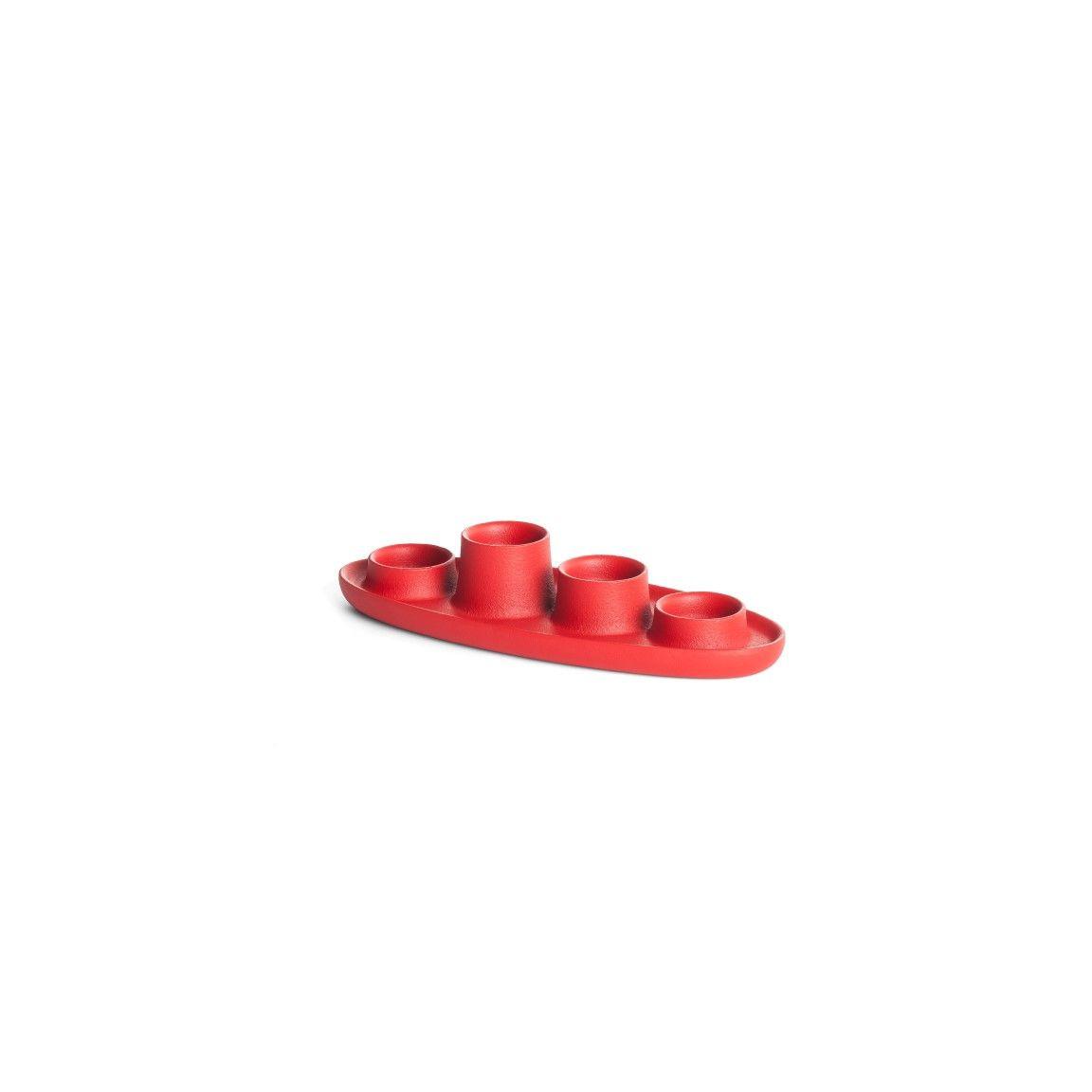 Kerzenhalter für 4 Kerzen | Rot
