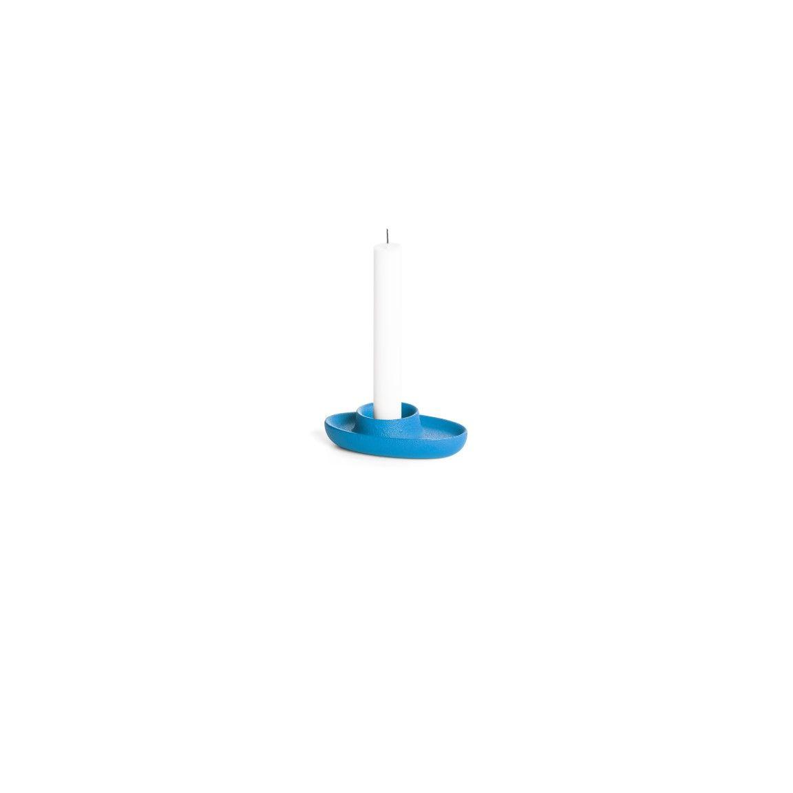 Kerzenhalter für 1 Kerze   Blau