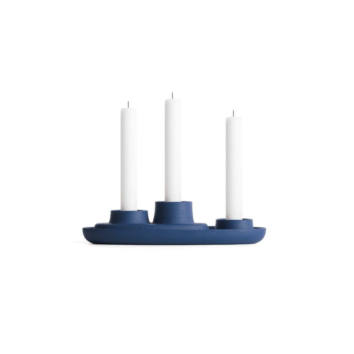 Kerzenhalter für 3 Kerzen | Marine