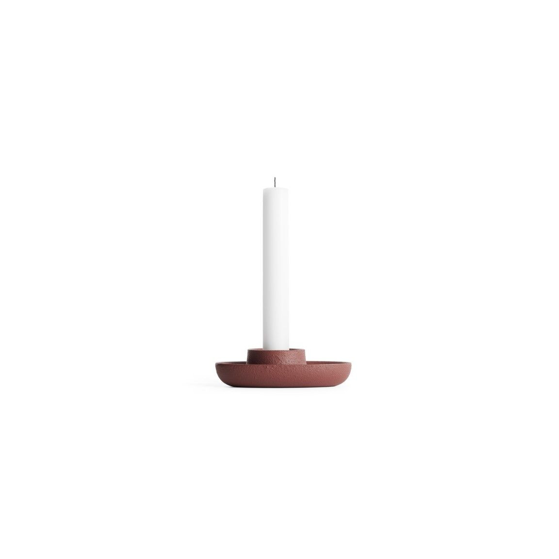 Kerzenhalter für 1 Kerze   Weinrot