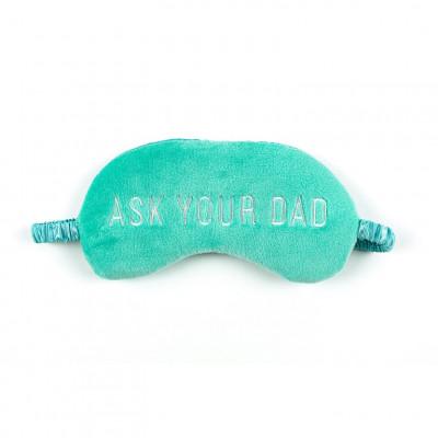 Schlafmasken-Plüsch Fragen Sie Ihren Vater | Teal