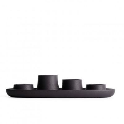 Kerzenhalter für 4 Kerzen | Schwarz