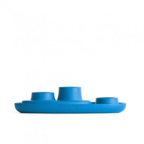 Kerzenhalter für 3 Kerzen | Blau