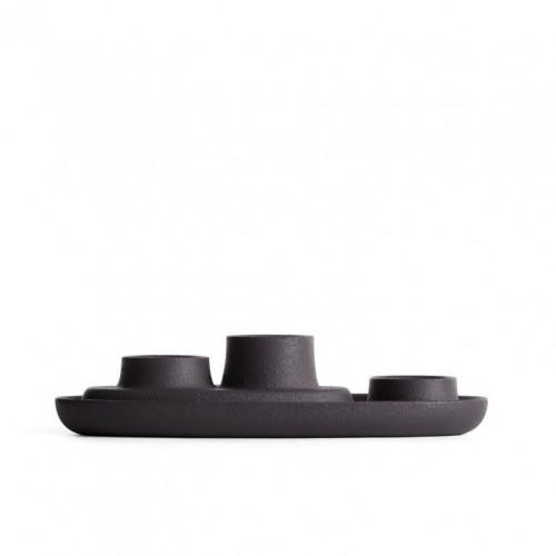 Kerzenhalter für 3 Kerzen | Schwarz