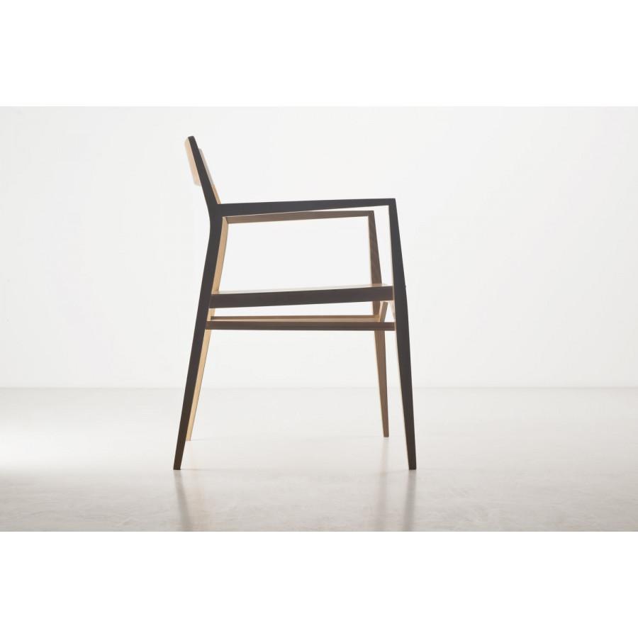 Chaise Aya   Bois de Hêtre & Siège Noir