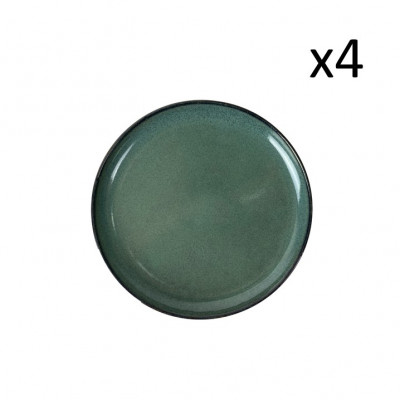 Teller Habuza Ø 19 cm 4er-Set | Blau