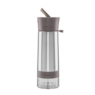 Isolierte Trinkflasche mit Infusor AquaZinger | Grau