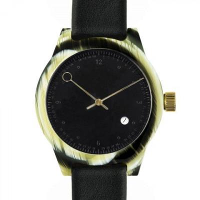 Minuteman Two Hand Watch | Horn & Black
