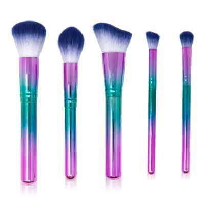 Make Up Brush Set Purple   Set of 5