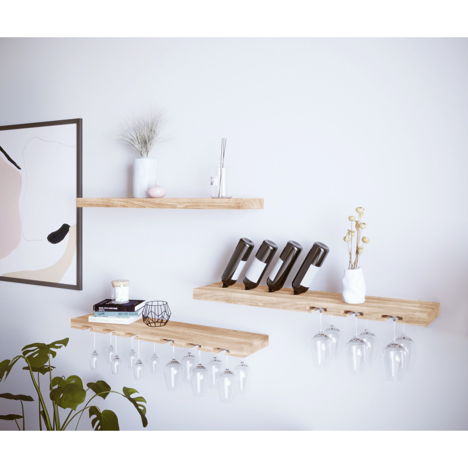 Floating Shelf Model B0 Ash Wood