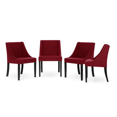 4er-Set Esszimmerstühle Creativity | Rot