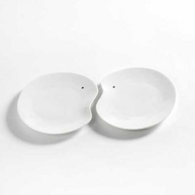 2er-Set Teller Medium Facing Food | Weiß