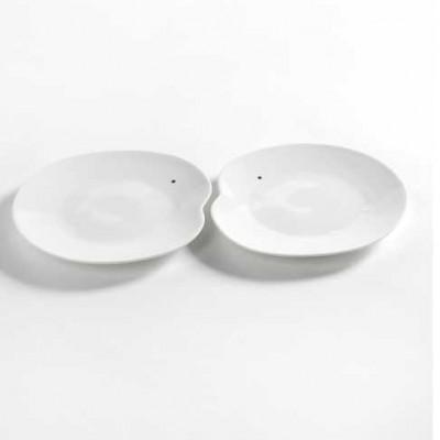 2er-Set Teller Large Facing Food | Weiß