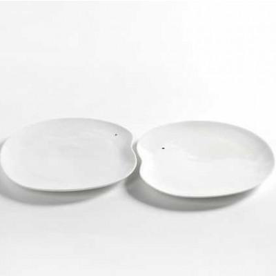 2er-Set Teller Extra Large Facing Food | Weiß
