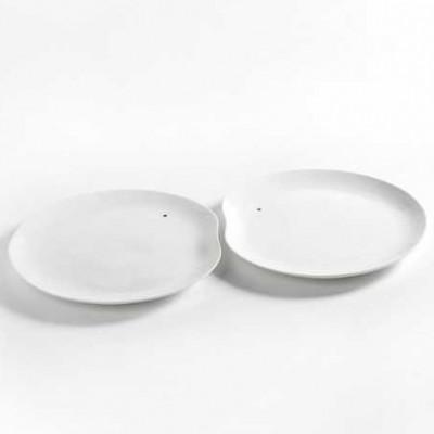 2er Set Serviertabletts Facing Food | Weiß