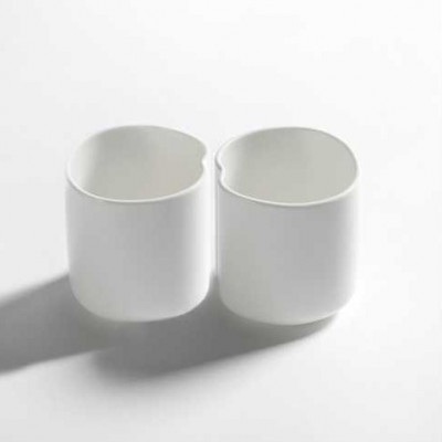 2er-Set Tassen Facing Food | Weiß