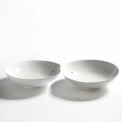 2er-Set Schalen Medium Facing Food | Weiß