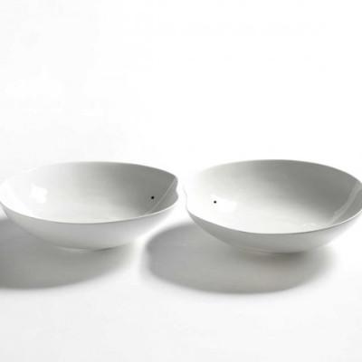 2er-Set Schalen Large Facing Food | Weiß