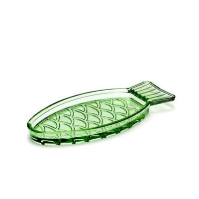 Fischschale klein 23 x 10 | Transparentes Grün
