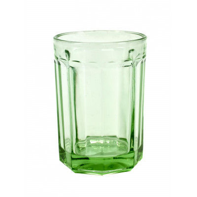 Drinking Glass D8,5 H12 Large | Transparent Green