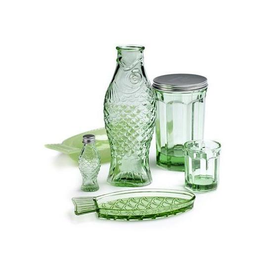 Trinkglas D8 H6 klein   Transparentes Grün